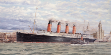 LUSITANIA AT LIVERPOOL